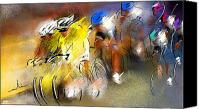 Tour De France Canvas Prints - Le Tour de France 05 Canvas Print by Miki De Goodaboom