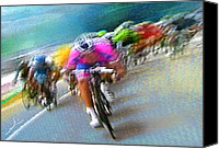 Cyclisme Canvas Prints - Le Tour de France 09 Canvas Print by Miki De Goodaboom