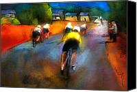 Cyclisme Canvas Prints - Le Tour de France 14 Canvas Print by Miki De Goodaboom
