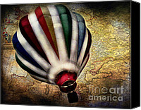 Maps Canvas Prints - Le tour du monde Canvas Print by Colleen Kammerer