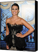 Tulle Canvas Prints - Lea Michele Wearing A Marchesa Dress Canvas Print by Everett