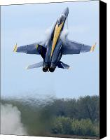 Demonstration Photo Canvas Prints - Lead Solo Pilot Of The Blue Angels Canvas Print by Stocktrek Images