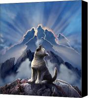 Canine  Canvas Prints - Leader of the Pack Canvas Print by Jerry LoFaro