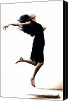 Ballet Art Canvas Prints - Leap into the Unknown Canvas Print by Richard Young