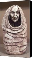 Native American Ceramics Canvas Prints - Leather Bound Canvas Print by Gaylon Dingler