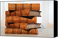 Antique Books Canvas Prints - Leather Bound II Canvas Print by Marcie Adams Eastmans Studio Photography