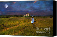 Star Barn Canvas Prints - Leaving Canvas Print by Darren Fisher