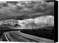 Raining Canvas Prints - Leaving the Tetons Canvas Print by Steven Ainsworth