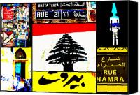 Middle East Canvas Prints - Lebanon famous icons Canvas Print by Funkpix Photo  Hunter