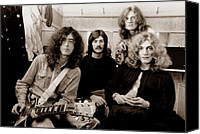 Music Tapestries Textiles Canvas Prints - Led Zeppelin 1969 Canvas Print by Chris Walter