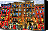 Nyc Canvas Prints - Led Zeppelin Physical Graffiti Building in Color Canvas Print by Randy Aveille