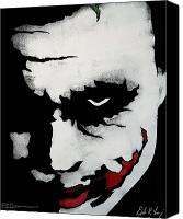Dark Knight Canvas Prints - Ledgers Joker Canvas Print by Dale Loos Jr