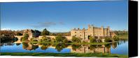 Moat Canvas Prints - Leeds Castle and Moat Reflections Canvas Print by Chris Thaxter