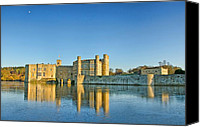 Moat Canvas Prints - Leeds Castle on Ice Canvas Print by Chris Thaxter