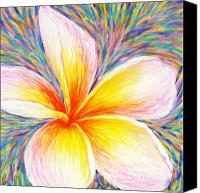 Plumeria Canvas Prints - Leelawadee Canvas Print by Atiketta Sangasaeng