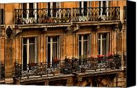 Balconies Canvas Prints - Left Bank Balconies Canvas Print by Mick Burkey
