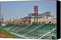 Wrigley Field Canvas Prints - Left field bleachers Canvas Print by David Bearden