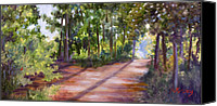 Country Dirt Roads Painting Canvas Prints - Left or Right Canvas Print by Sheila Kinsey