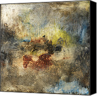 Olive Mixed Media Canvas Prints - Left To Chance Canvas Print by Michel  Keck