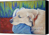 Wolf Pastels Canvas Prints - Leg Warmer Canvas Print by Tracy L Teeter