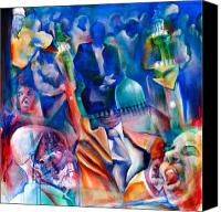 Change Painting Canvas Prints - Legacies of Resistance Canvas Print by Khalid Hussein