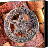 Texas Rangers Canvas Prints - Legends  Canvas Print by JC Findley