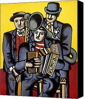 Tuba Canvas Prints - Leger Musicians 1944 Canvas Print by Granger