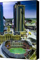 Mlb Photo Canvas Prints - Legoland Dallas I Canvas Print by Ricky Barnard
