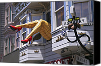 Shoes Canvas Prints - Legs in window SF Canvas Print by Garry Gay