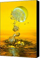 Lemon Canvas Prints - Lemon and bubbles Canvas Print by Travel Images Worldwide