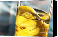 Lemon Canvas Prints - Lemon Drink Canvas Print by Carlos Caetano