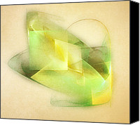 Cube Canvas Prints - Lemon Lime Canvas Print by Scott Norris