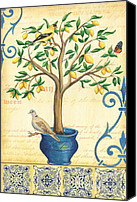 Dove Canvas Prints - Lemon Tree of Life Canvas Print by Debbie DeWitt