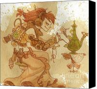 Steampunk Canvas Prints - Lemongrass Canvas Print by Brian Kesinger
