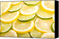 Limes Canvas Prints - Lemons and Limes Canvas Print by James Bo Insogna