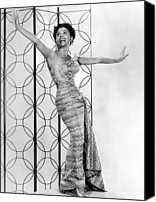 1950s Fashion Canvas Prints - Lena Horne. Ca. 1950s. Courtesy Csu Canvas Print by Everett