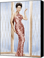 1950s Fashion Canvas Prints - Lena Horne, Ca. 1950s Canvas Print by Everett
