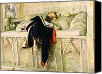 Asleep Painting Canvas Prints - LEnfant du Regiment Canvas Print by Sir John Everett Millais