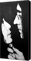 Portraits Canvas Prints - Lennon and Yoko Canvas Print by Ashley Price