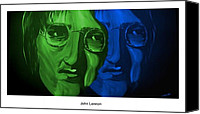 Silver Moonlight Canvas Prints - Lennon Canvas Print by Mark Moore