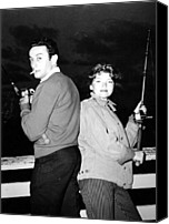 1950s Fashion Canvas Prints - Lenny Bruce, With His Wife Honey Canvas Print by Everett