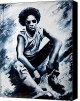 Singer Painting Canvas Prints - Lenny Kravitz Canvas Print by Jocelyn Passeron