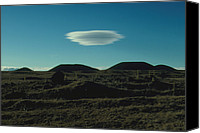 Mauna Kea Canvas Prints - Lenticular Cloud Near Mauna Kea, Hawaii, Usa Canvas Print by Magrath Photography