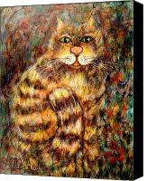 Tabby  Painting Canvas Prints - Leo Canvas Print by Natalie Holland