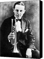 Tuxedo Canvas Prints - (leon) Bix Beiderbecke Canvas Print by Granger