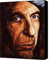 Leonard Cohen Canvas Prints - Leonard Cohen Canvas Print by Igor Postash