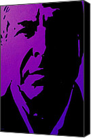 Leonard Cohen Canvas Prints - Leonard Cohen Canvas Print by John  Nolan