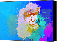 Leonard Cohen Canvas Prints - Leonard Cohen Canvas Print by Irina  March