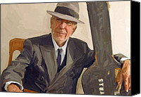 Leonard Cohen Canvas Prints - Leonard Cohen Canvas Print by Nop Briex