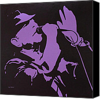 Leonard Cohen Canvas Prints - Leonard Cohen The Tower Of Song Canvas Print by John  Nolan